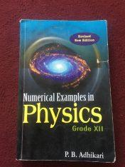 Solved Numerical Physics Class 12