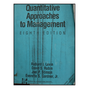 Quantitative Approach and Management